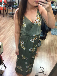 Amara Light Olive Floral Maxi - Oh, Darlin'