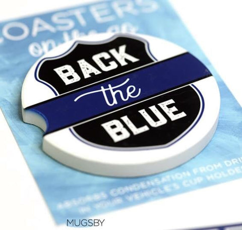 Black The Blue Car Coaster Set of 2 - Oh, Darlin'