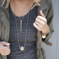 Large Bubble Layering Necklace Stone + Stick - Oh, Darlin'