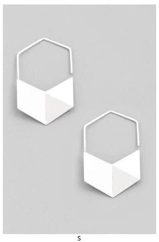 Geometric Silver Drop Earring - Oh, Darlin'