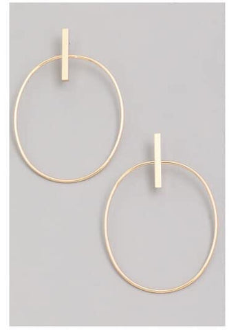 Front Facing Hoop Earring - Oh, Darlin'