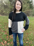 BF Doorbuster Asymmetrical Colorblock Top