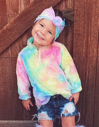 Tie Dye 1/4 Zip Pullover Childrens - Oh, Darlin'