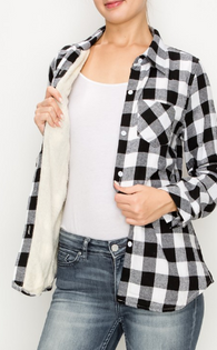 Avery Plaid Sherpa Fleece Lined Button Down - Oh, Darlin'