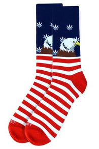 Novelty Mens Socks - Bald Eagle Leaves - Oh, Darlin'