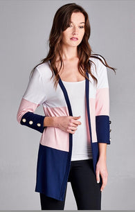 Miriam Colorblock Cardigan with Buttons - Oh, Darlin'