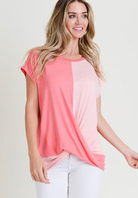Arielle Colorblock Twist Front Top - Oh, Darlin'