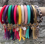 Leather Bangle Keychain Bracelet - Oh, Darlin'