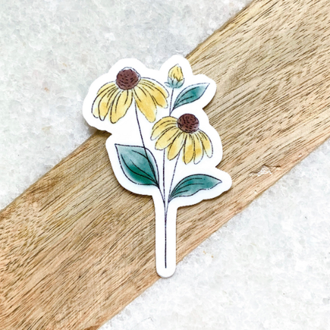 Watercolor Black Eyed Susan Sticker - Oh, Darlin'