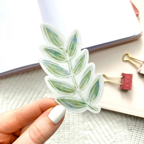 Watercolor Green Leaves Sticker - Oh, Darlin'