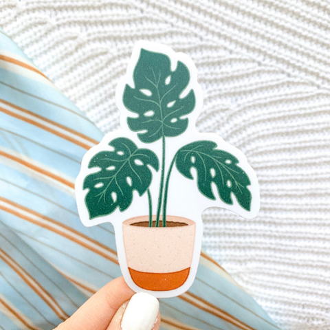 Potted Monstera Plant Sticker - Oh, Darlin'