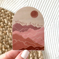Adventure Is Out There Mountainscape Sticker - Oh, Darlin'