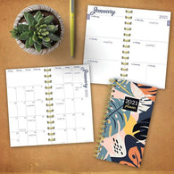 Leaf Print Small Weekly/Monthly Planner
