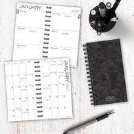 Black Camo Small Weekly/Monthly Planner