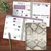 Snake Print Medium Weekly/Monthly Planner + Stickers