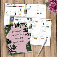 Live Simply Pink Medium Weekly/Monthly Planner + Stickers