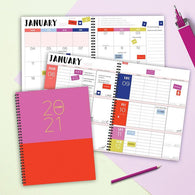 Pink from the Block Large Weekly/Monthly Planner + Stickers
