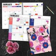 Modern Blooms Large Weekly/Monthly Planner + Stickers
