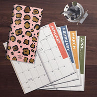 Blushing Leopard Small Monthly Planner