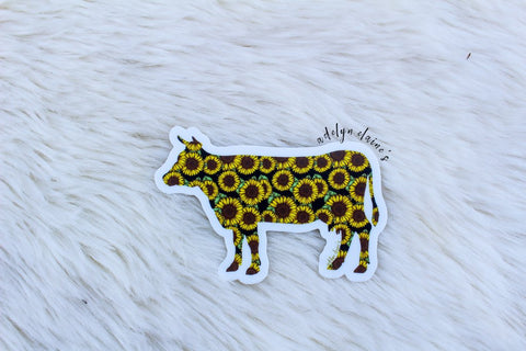 Sunflower Miss Betsy Cow Sticker - Oh, Darlin'