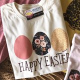 Happy Easter Printed Eggs Tee - Oh, Darlin'