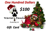 Warrior Ranch $100 Gift Card