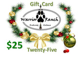 Warrior Ranch Gift Card