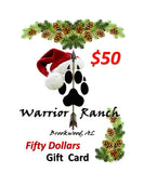 Warrior Ranch $50 Gift Card