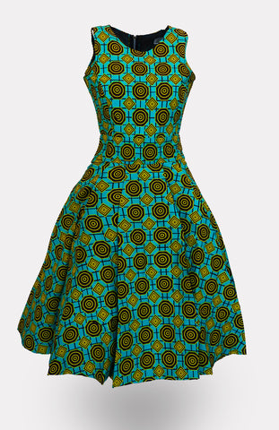 Ciana with Taj Midi Dress African Print