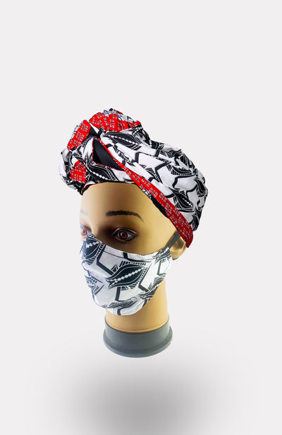 African Print Double Layer Face Mask- Naetochu - African Wax - Ankara - Chinero Nnamani