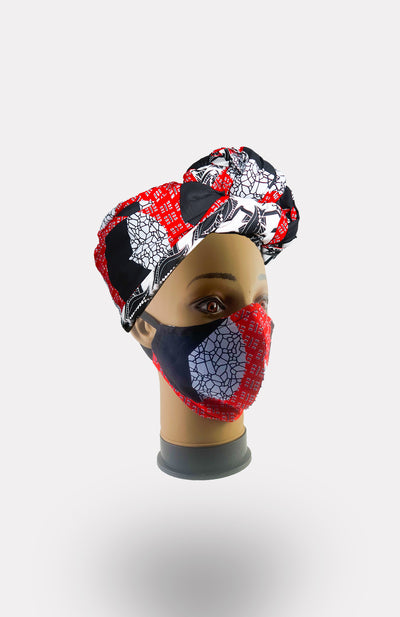 African Print Double Layer Face Mask- Une - African Wax - Ankara - Chinero Nnamani