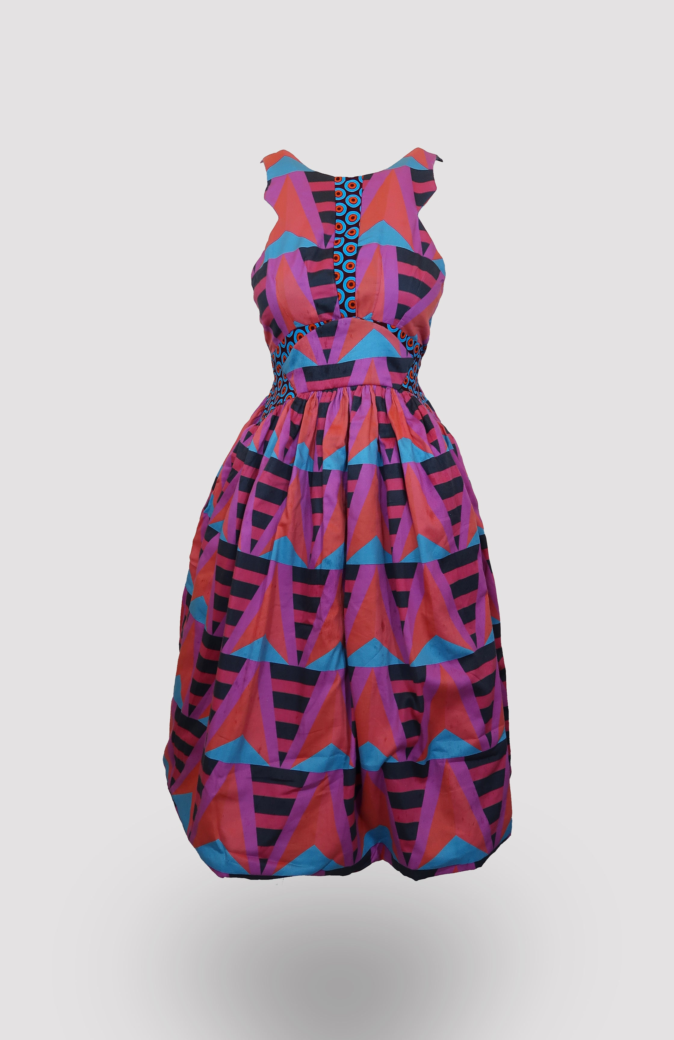 Ciana with Taj Midi Dress African Print - African Wax - Ankara - Chinero Nnamani