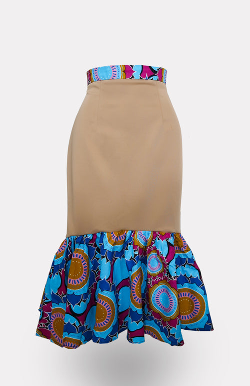 Tan-Eind Mermaid Skirt African Print - African Wax - Ankara - Chinero Nnamani