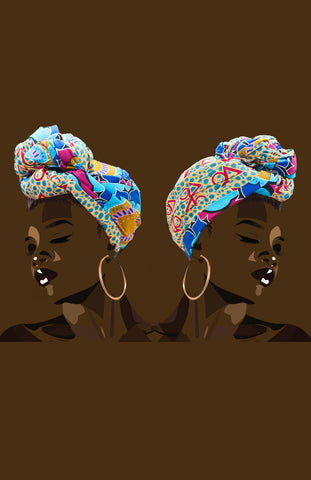 Reversible Ulo/Ife Head Wrap
