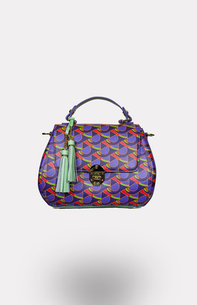 Enwu-Wensi Crossbody African Print Leather Bag - African Wax - Ankara - Chinero Nnamani