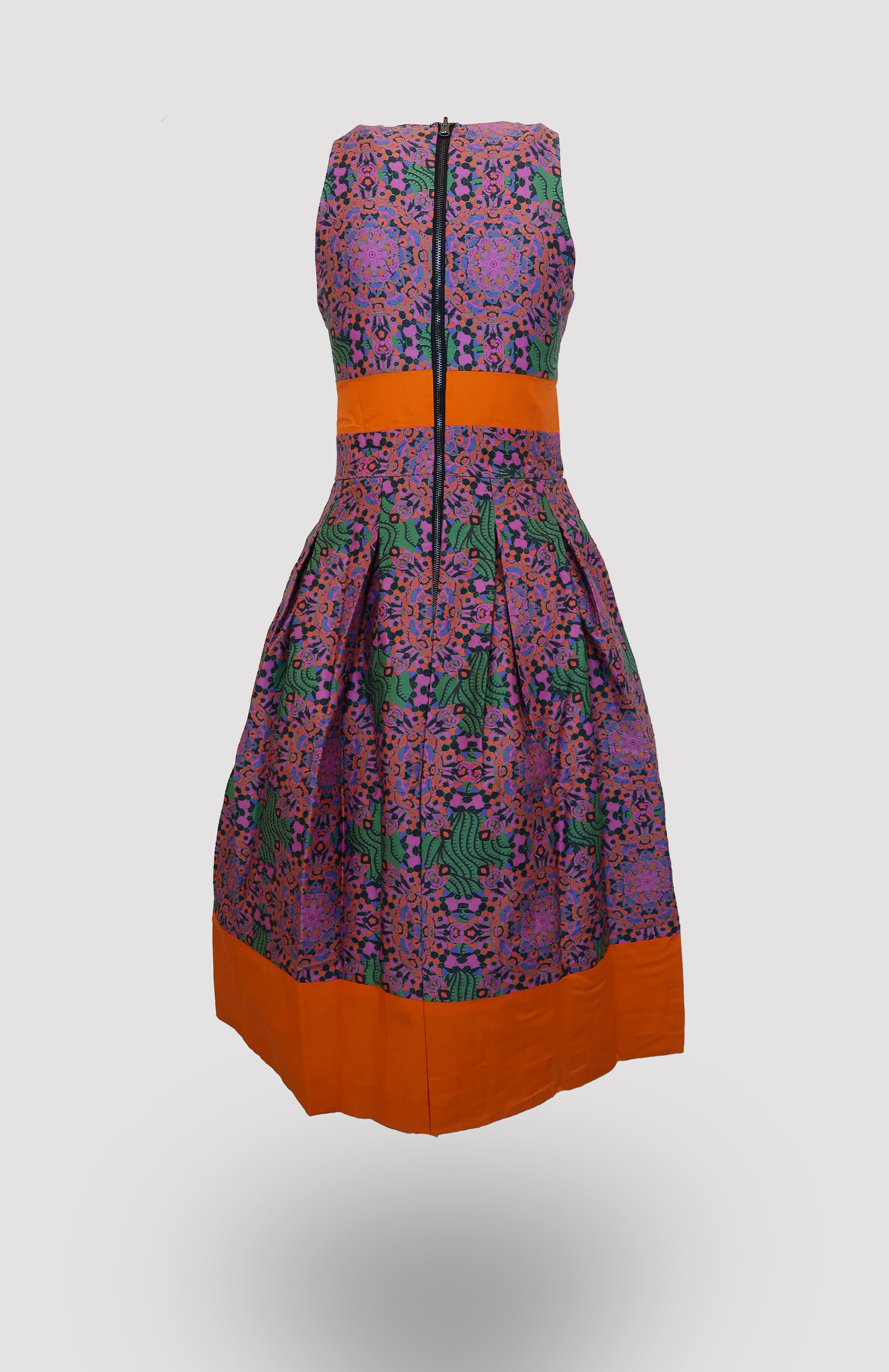 Geryia Midi Dress - African Wax - Ankara - Chinero Nnamani