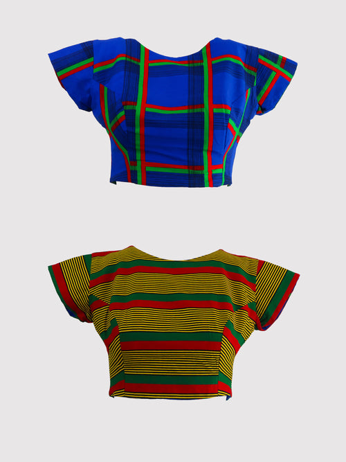 Ife/ulo Reversible Crop Top - African Wax - Ankara - Chinero Nnamani