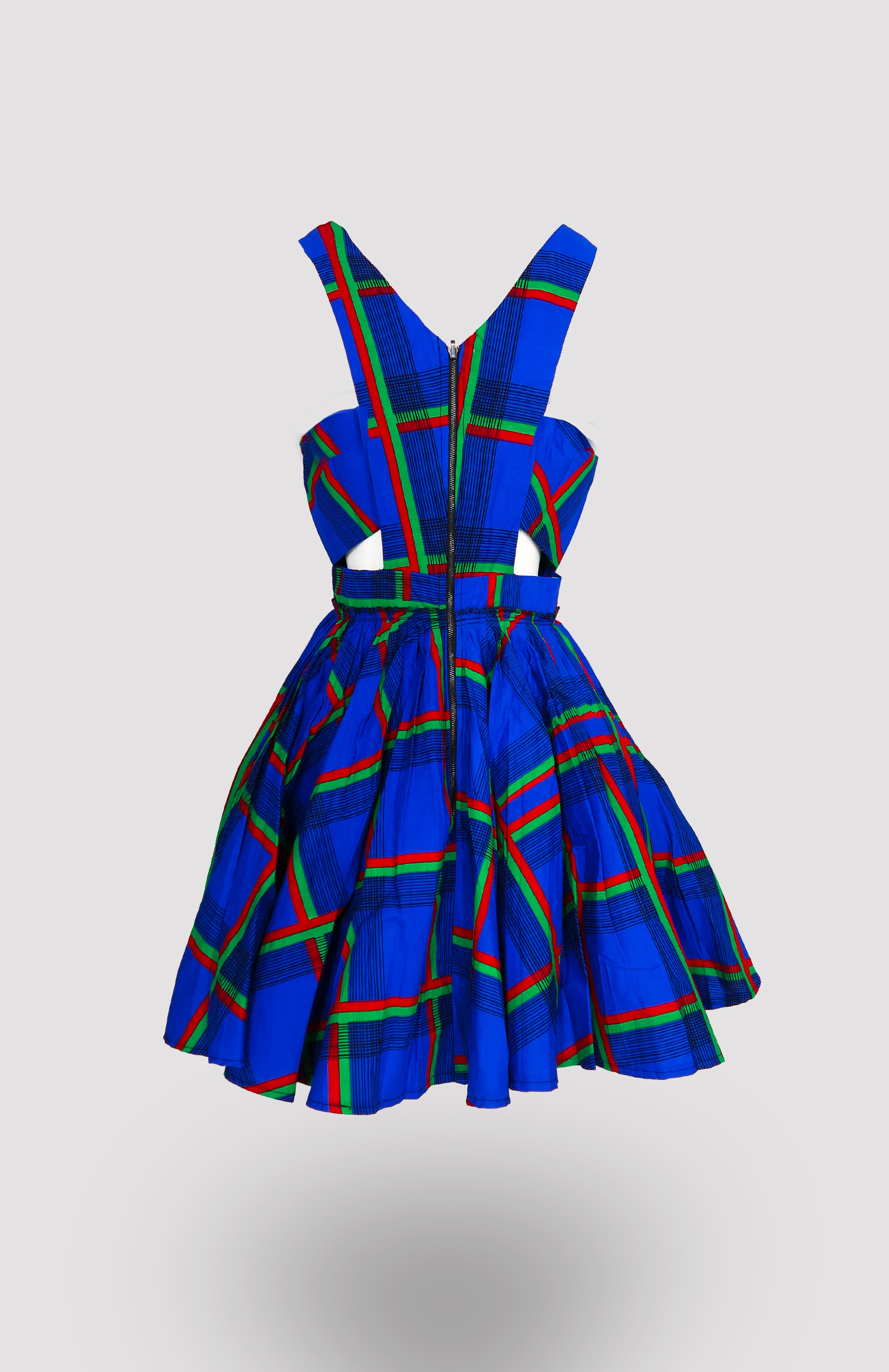 Ife Mini Tennis Dress - African Wax - Ankara - Chinero Nnamani