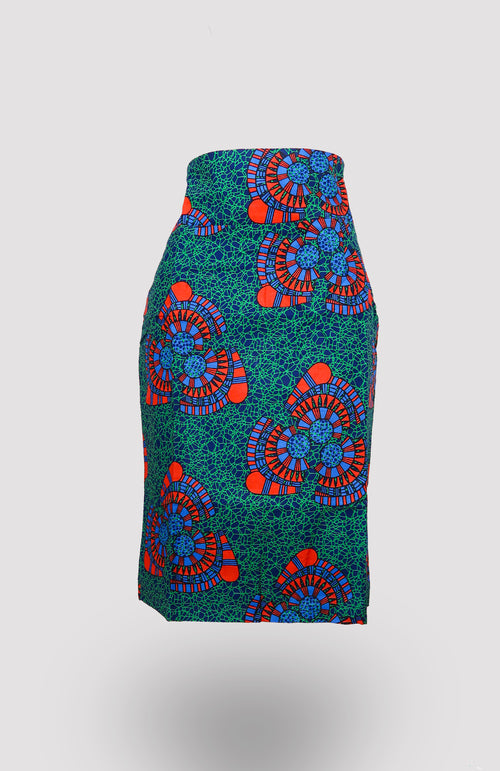 High-waisted Ikeogu Pencil Skirt African Print - African Wax - Ankara - Chinero Nnamani