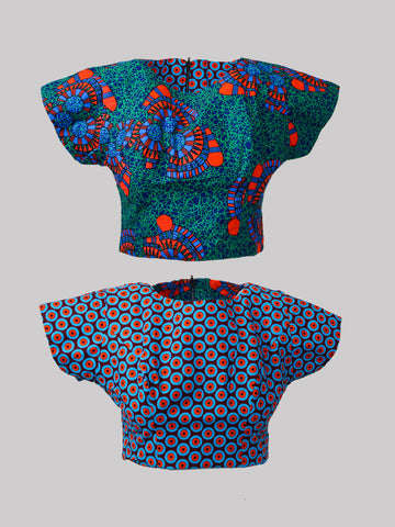 Une/Naetochu Reversible Top African Print