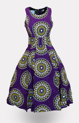 Milochi Quarter Sleeve Midi Dress African Print