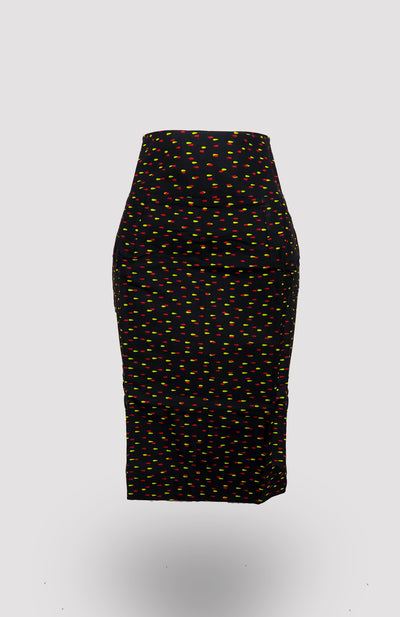 High-waisted Issa Pencil Skirt African Print - African Wax - Ankara - Chinero Nnamani
