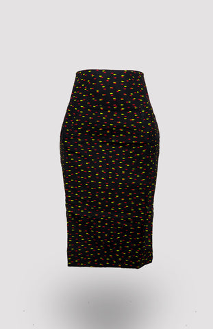 High-waisted Taj Pencil Skirt African Print