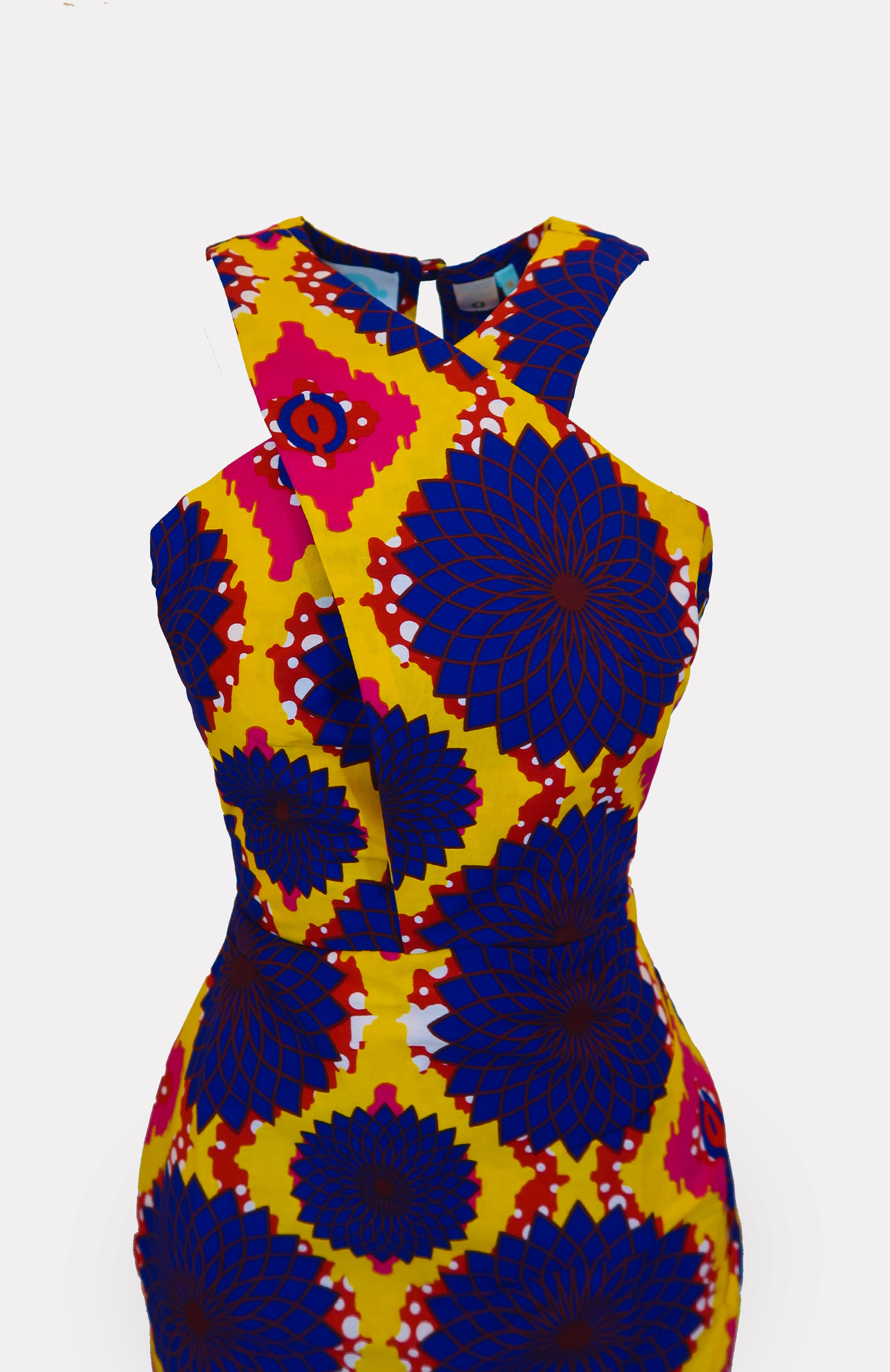 Kofi Halter Pencil Dress African Print - African Wax - Ankara - Chinero Nnamani