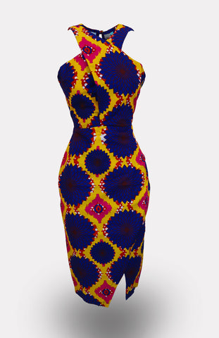 High-waisted Issa Pencil Skirt African Print