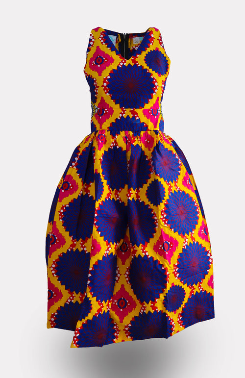 KofiInye Midi Dress - African Wax - Ankara - Chinero Nnamani