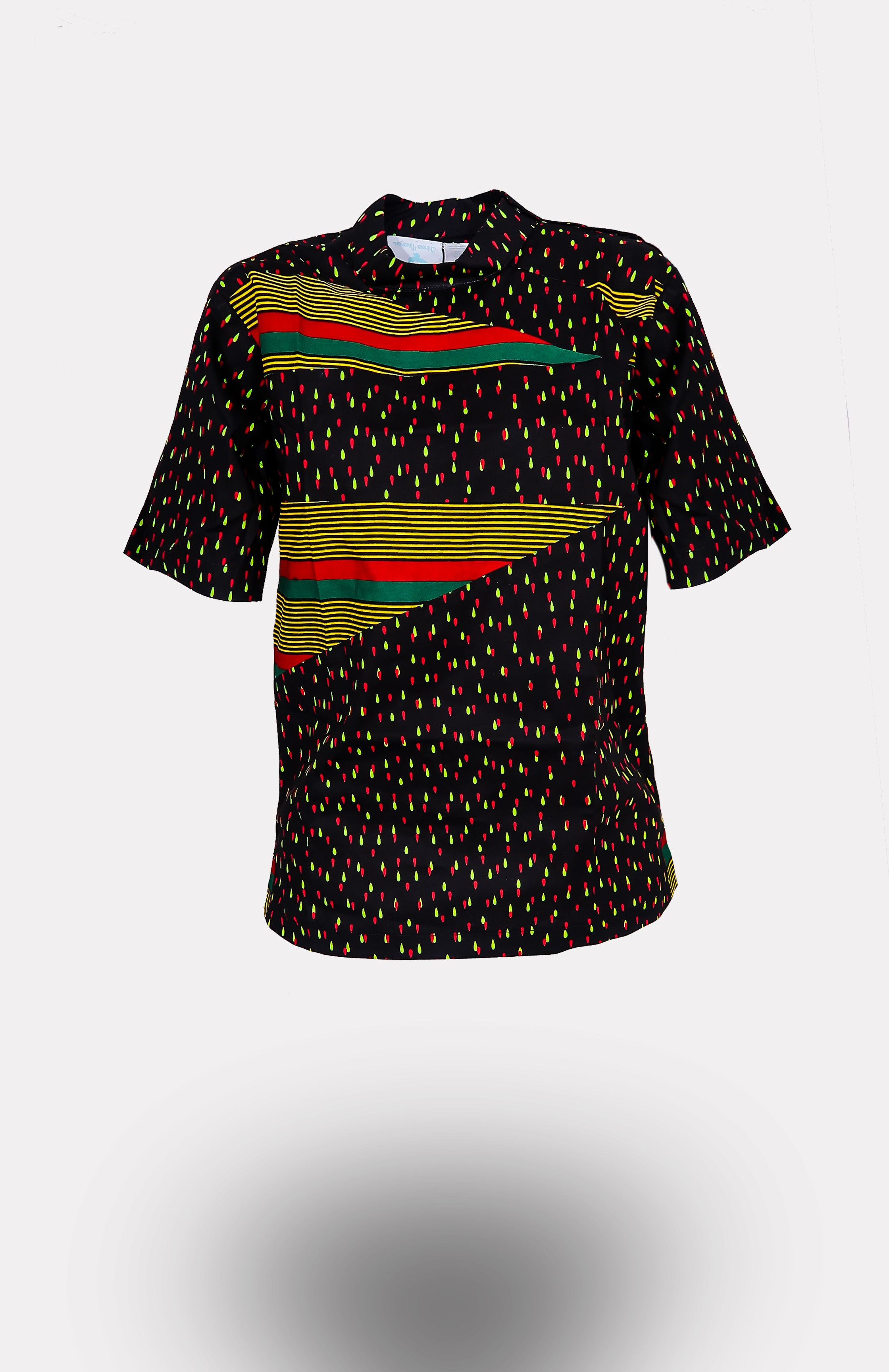 Men's Issa Patchwork Top African Print - African Wax - Ankara - Chinero Nnamani