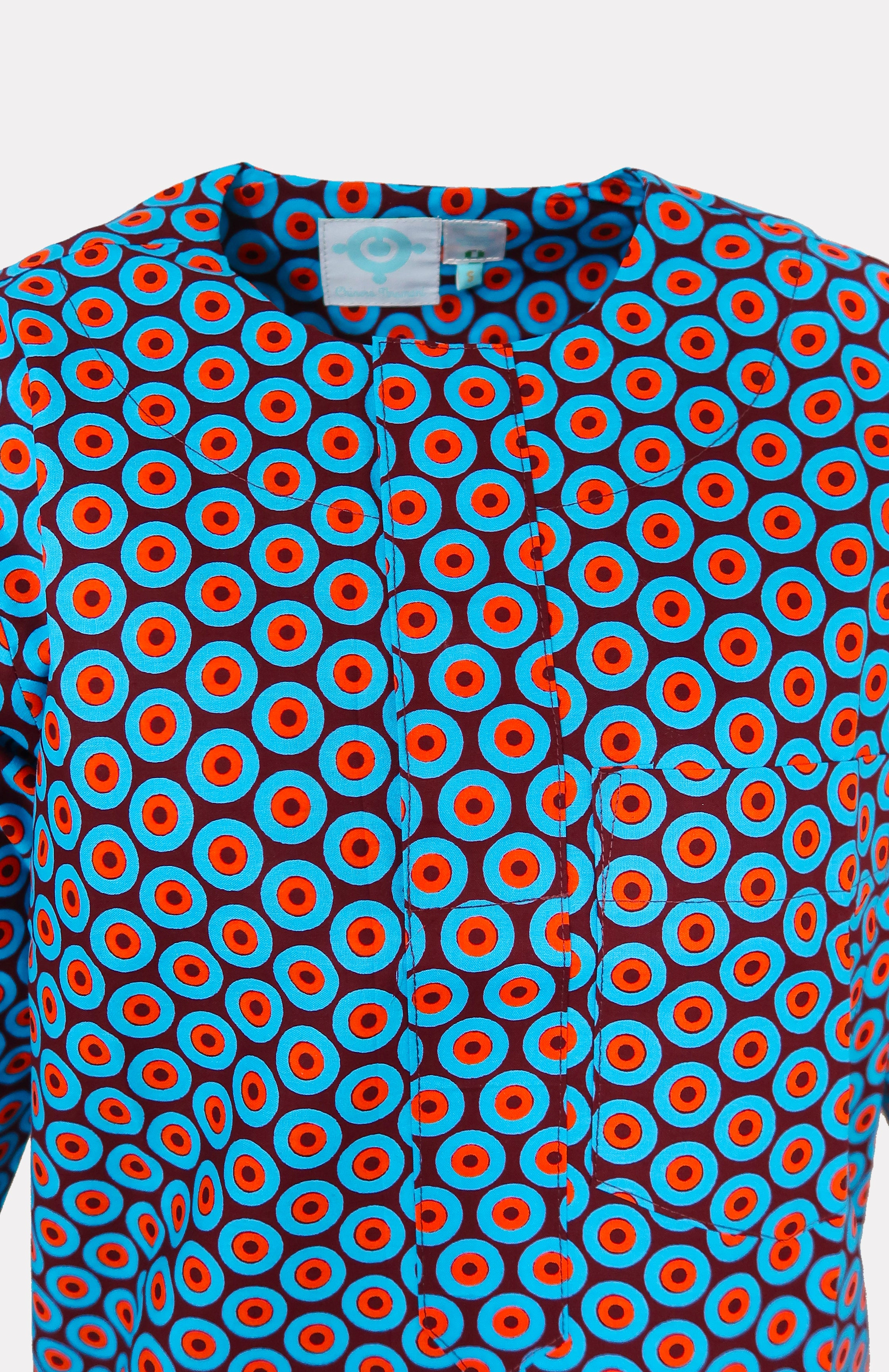 Men's Taj Top w/ Ikeogu Detail - African Wax - Ankara - Chinero Nnamani