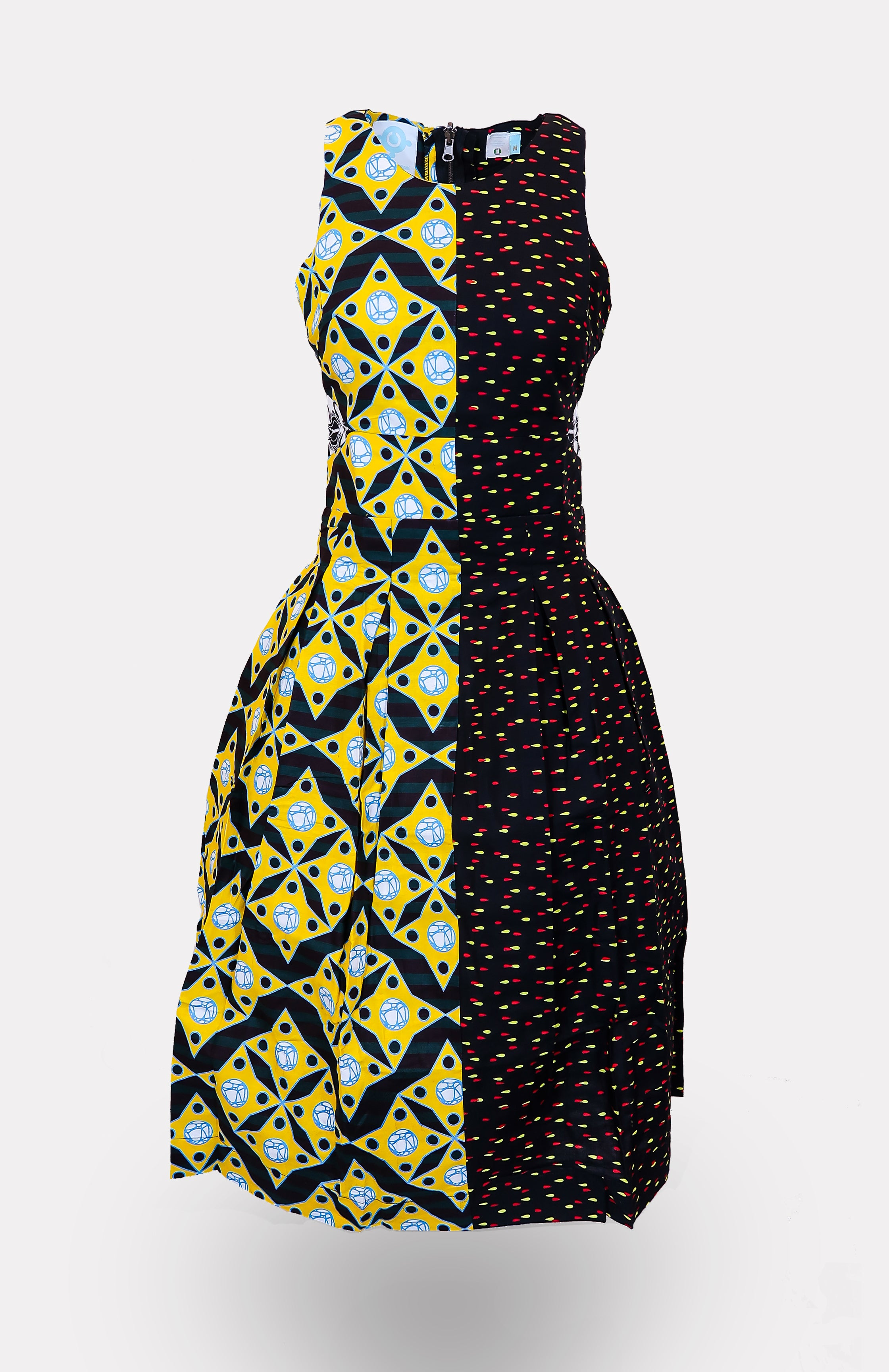 MianuIssa Two-Faced Dress - African Wax - Ankara - Chinero Nnamani