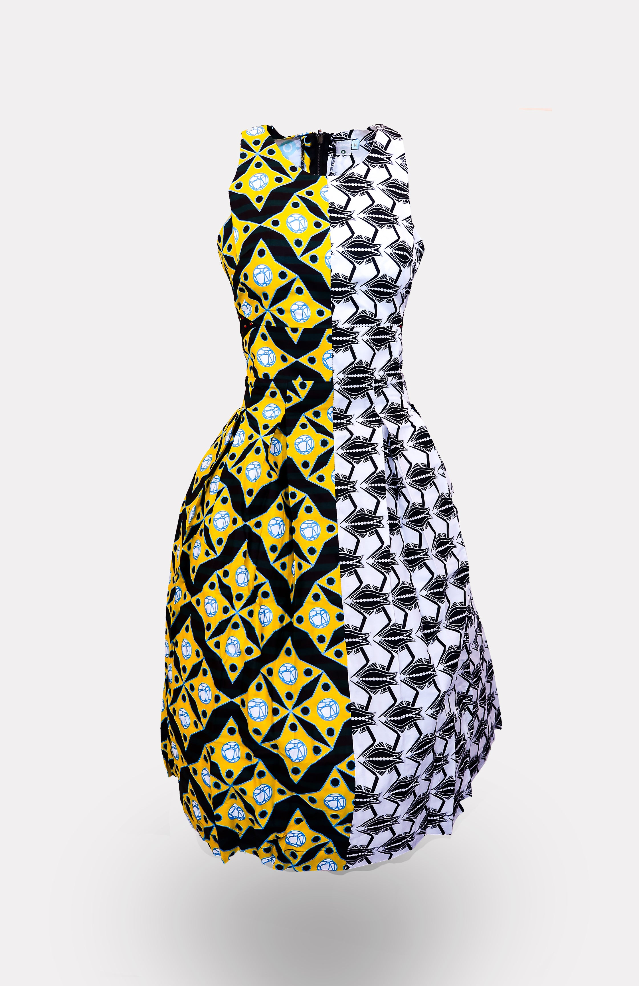 MianuNaetochu Two-Faced Dress African Print - African Wax - Ankara - Chinero Nnamani
